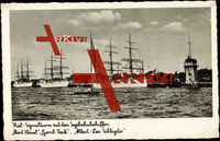 Kiel, Signalturm, Segelschulschiffe,Horst Wessel,Gorch Fock,Schlageter