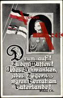 Passepartout Drum auf, Kaiser Wilhelm II, Schwanken, Zögern, Verrat