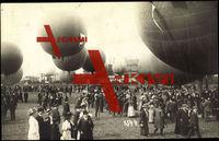 Zürich, Gordon Bennett Wettfliegen 1909, Fesselballons, Besucher