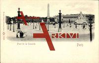 Paris, vue sur la Place de la Concorde, l'obélisque
