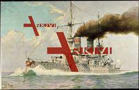 Chr. Rave, Kriegsschiffe Deutschland, Linienschiff Kaiser Barbarossa
