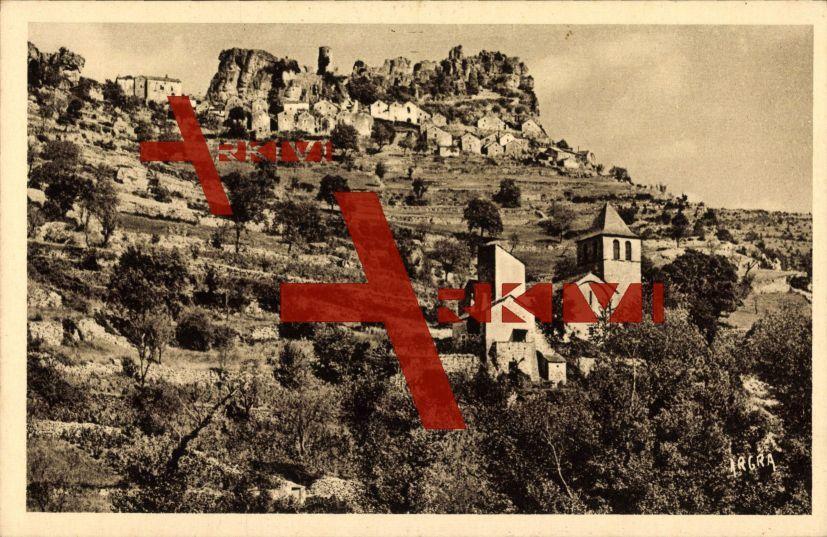 Saint Veran en Hautes Alpes, Vue des Ruines du Chateau, Montcalm