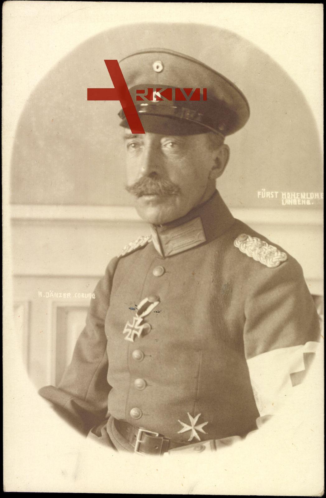 Passepartout Fürst Ernst II von Hohenlohe Langenburg