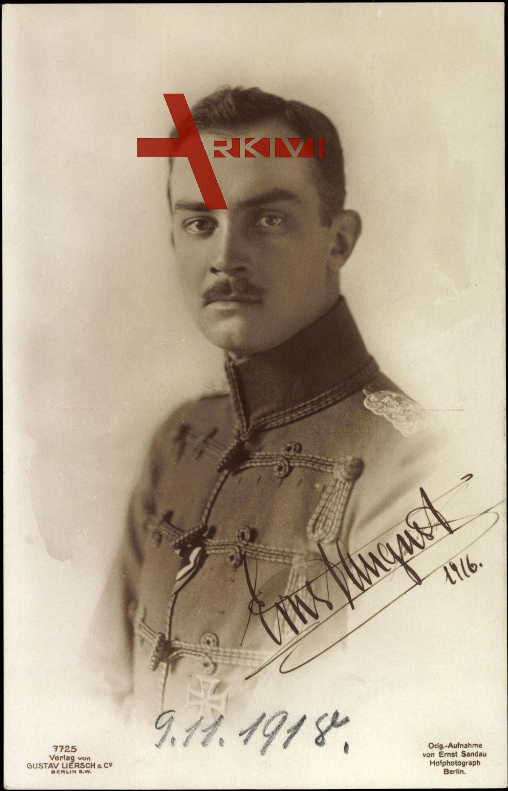 Herzog Ernst August zu Braunschweig Lüneburg, Liersch 7725