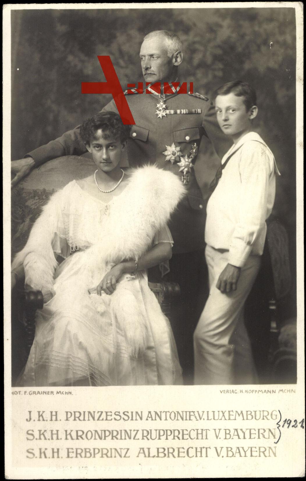 Prinzessin Antonia v. Luxemburg, Kronprinz Rupprecht, Erbprinz Albrecht