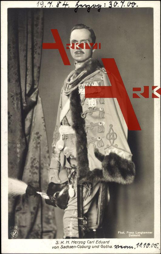 Herzog Carl Eduard von Sachsen Coburg Gotha, Uniform, Husar, Orden
