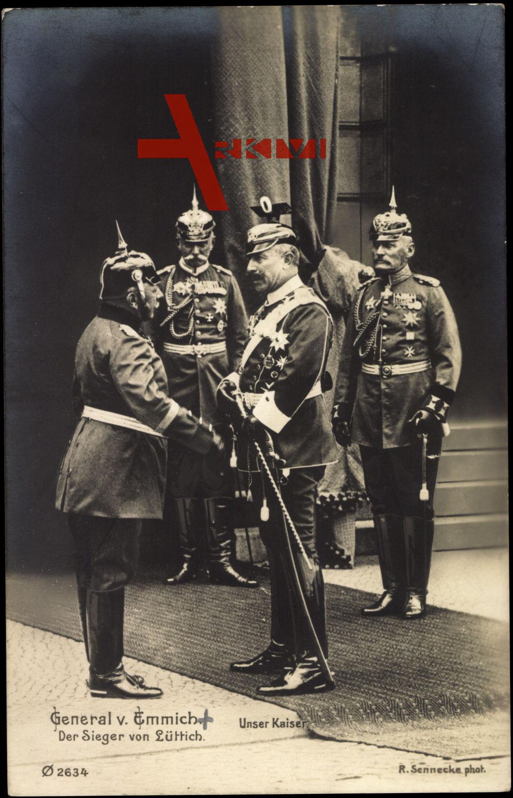 General v. Emmich und Kaiser Wilhelm II.