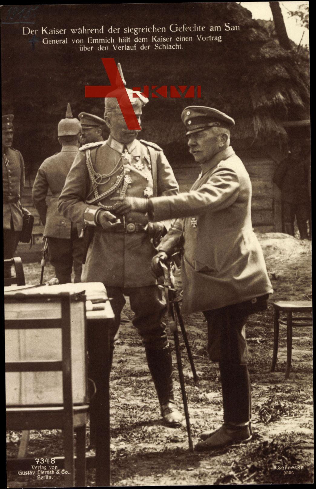 General v. Emmich und Kaiser Wilhelm II., Liersch 7348