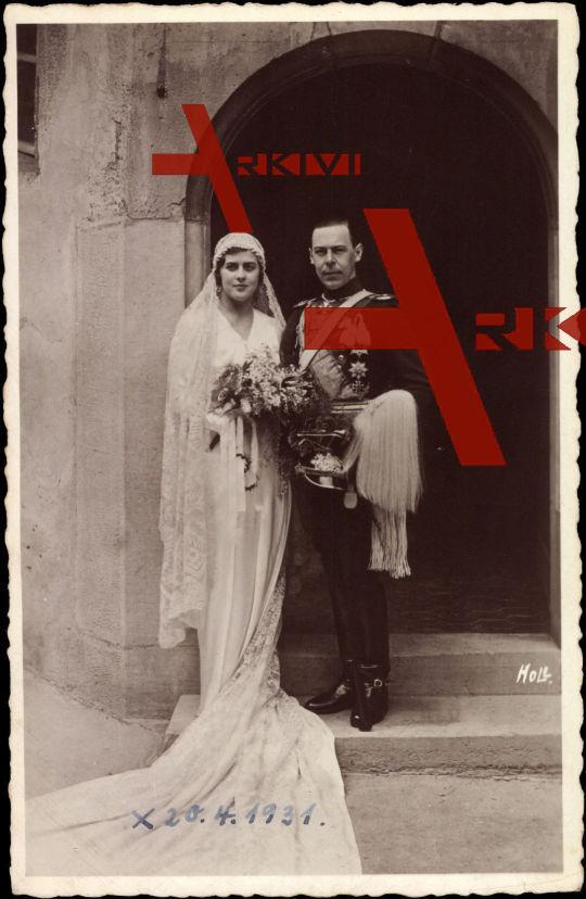 Margarita von Griechenland, Gottfried von Hohenlohe Langenburg, 1931