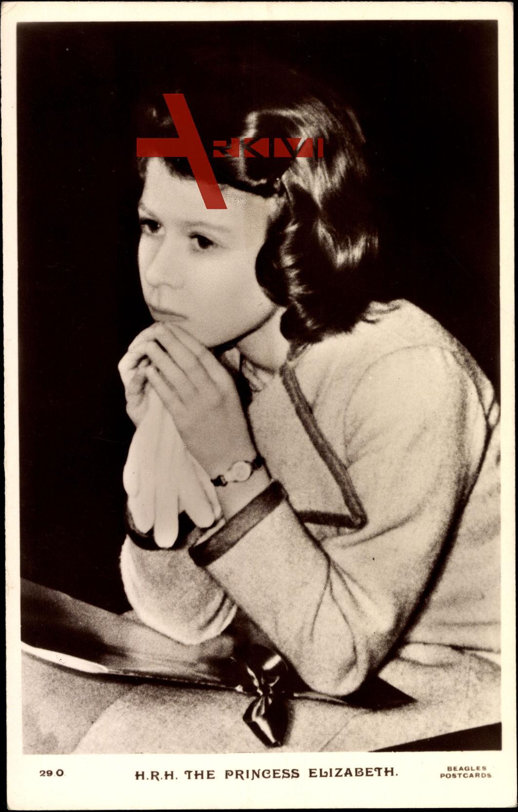 H.R.H. The princess Elizabeth, Elizabeth II als junges Mädchen