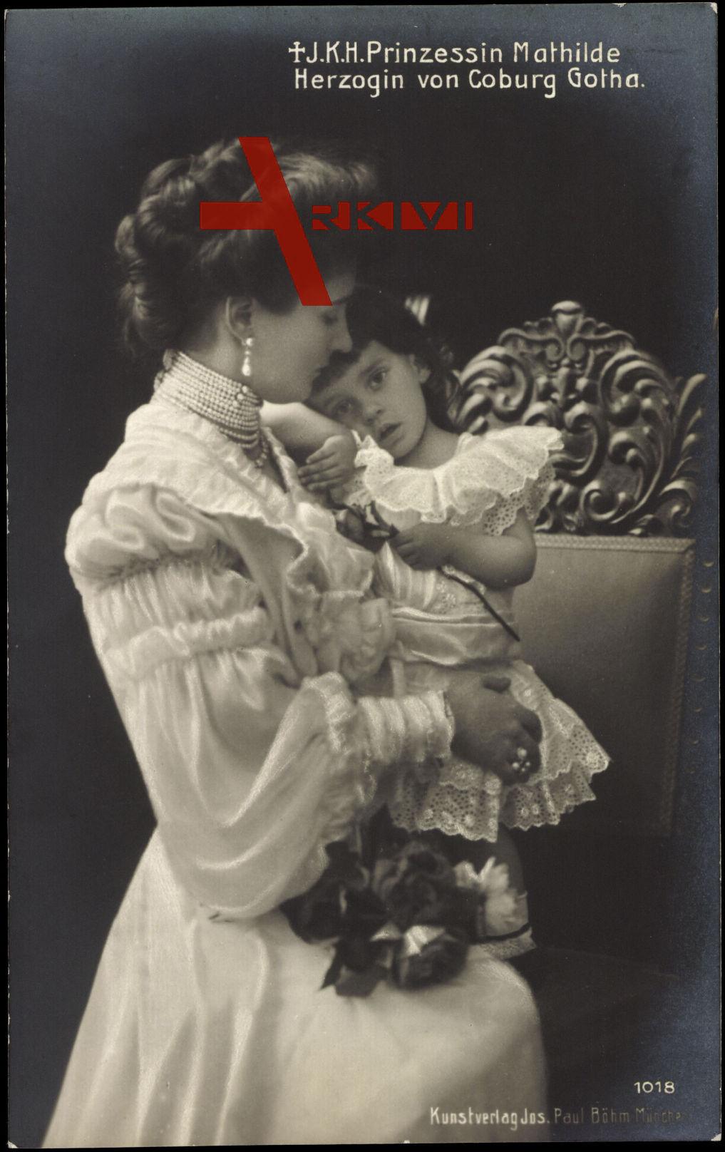 Prinzessin Mathilde, Herzogin von Sachsen Coburg Gotha