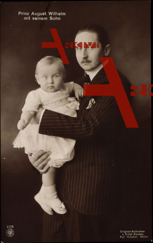 Prinz August Wilhelm mit seinem Sohn, NPG 4728