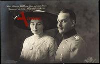 Prinz Heinrich XXXIII von Reuss mit Prinzessin Victoria Margarete, Liersch