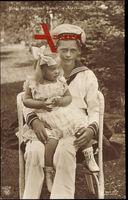 Prinz Wilhelm und Prinzessin Alexandrine, Mützenband mit S.M.S. Schriftzug
