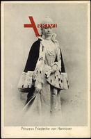 Prinzessin Friederike von Hannover, Nerzmantel, Kleid