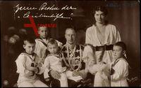 Kronprinz Wilhelm mit Kronprinzessin Cecilie und Söhne, NPG, Wohlfahrt
