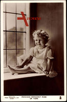 Princess Margaret Rose of York as a Child by a window
