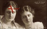 A.A. L.L. R.R. Printesele Elisaveta si Maria, Prinzessinnen von Rumänien