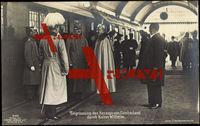 Begrüßung des Herzogs von Cumberland, Wilhelm II von Preußen, Liersch 4164