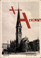 Berlin Prenzlauer Berg, Blick auf die Immanuel Kirche