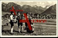 Trio Toni Brutscher, Oberstdorf Bayr. Allgäu, Trachten, Musikinstrumente