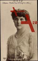 Prinzessin Margarethe von Dänemark mit Hochsteckfrisur