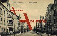 Berlin Lichtenberg Karlshorst, Blick auf Häuser an der Hentigstraße