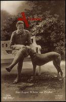 Prinz August Wilhelm von Preußen mit Windhund, Liersch 7726