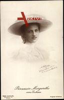 Prinzessin Margarethe von Sachsen, Portrait, Hut