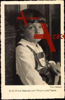 S.D. Prinz Gabriel von Thurn und Taxis in jungen Jahren