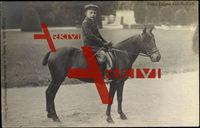 Prinz Eugen von Anhalt auf einem jungen Pferd