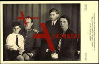 Paul von Jugoslawien mit Frau und Kindern, Adel Serbien u. Kroatien