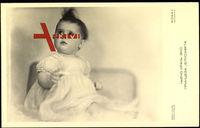 Elisabeth von Jugoslawien, Kleinkind, Hochstehendes Haar
