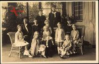 Jean, Prinz Karl, Marie Adelheid, Alix, Großherzogin Maria, Anna von Luxemburg