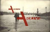 Paris, Place de la Concorde au Crépuscule, Effet du Pluie