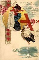 Storch, Frau, Kinder, Herbst, Winter, Herzen, Liebe