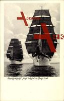 Segelschulschiffe Horst Wessel und Gorch Fock