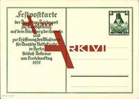 Ganzsachen Tracht aus Niedersachsen, 6 Pfennig, Erntedanktag 1935 Berlin