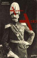 Friedrich II. Herzog von Anhalt in Uniform mit Abzeichen, Wohlfahrts Karte