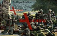 Des Königs Grenadiere, Es rasselt die Trommel, es reitet der Tod