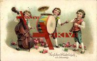 Herzlichen Glückwunsch zum Geburtstage, Kontrabass, Trommel, Klarinette