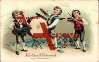 Herzlichen Glückwunsch zum Geburtstage, Ziehharmonika, Trommel, Violine