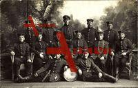 Soldaten, Gruppenfoto, Trommel, Mützen, Gürtelschnallen