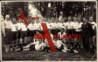 Fußballmannschaft, Gruppenfoto, Lederball, Junge Männer, Graz