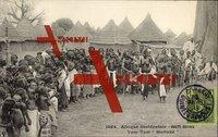 Haute Guinee Afrika, Afrique Occidentale, Tam Tam Malinke, Volkstanz,Trommel