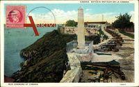 Havanna Kuba, Bateria Antigua en la Cabana, Felsen