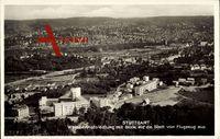 Stuttgart, Weissenhofsiedlung mit Blick auf die Stadt, Fliegeraufnahme