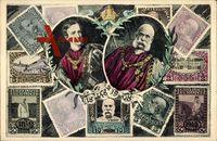 Briefmarken Kaiser Franz Josef I. von Österreich, 50 Heller, 5 Heller