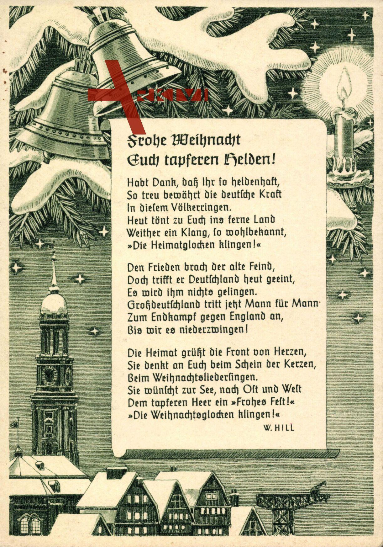 Gedicht Frohe Weihnachten, Frohe Weihnacht euch tapferen Helden, W ...