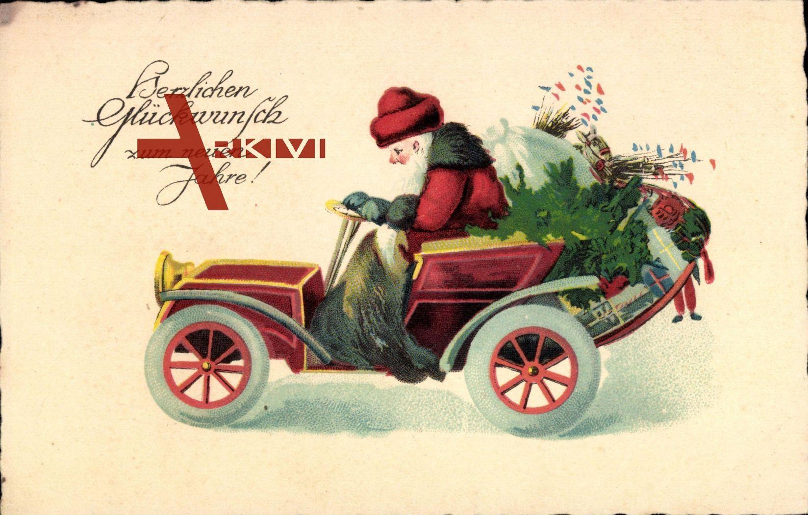 Frohe Weihnachten Weihnachtsmann Auto Geschenke Xl